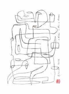 Serge Bloch, original work on paper, A Dream within a Dream