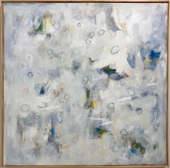 Linc Thelen, Abstract paintin, White and Blue Blue tome