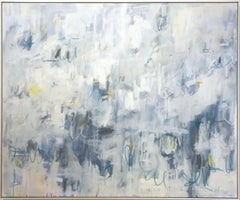 Linc Thelen, Large abstract painting, Blue tone, Framed