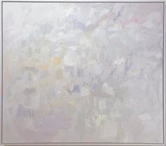 Linc Thelen, Large abstract painting, Soft pastel color, Framed