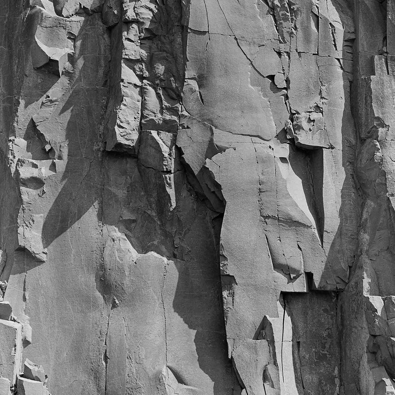 Andrew buck rockface 13 large square black white photograph