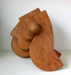 Whorl (Mid Century Modern Inspired Wooden Table Top Sculpture)