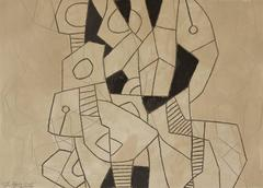 Black and Gray Abstract Drawing, Untitled 20