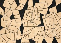Black and White Abstract Drawing, Untitled 35