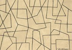 Black and White Abstract Drawing, Untitled 37