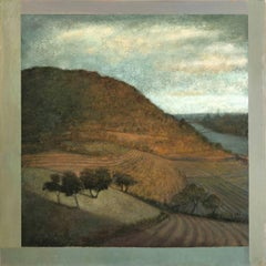 Opening No. 54 (Modern Hudson River Valley Oil Landscape Painting on Canvas)
