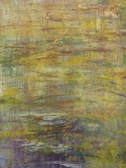All Intentional Efforts Vanished (Citron and Violet Abstract Work on Paper)