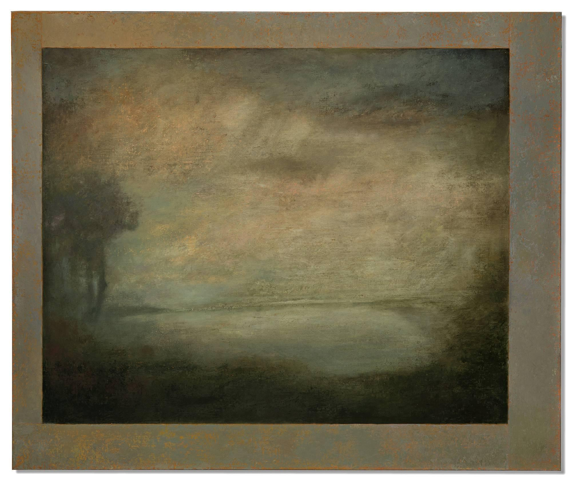 Opening No. 51 (Modern, Hudson River Landscape Painting in Romanticist Style)