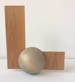 El (Small Abstract Wood Sculpture in Mid Century Modern Style)