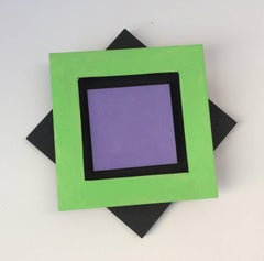 Foursquare (Mid Century Modern Inspired Small Abstract Wall Sculpture)