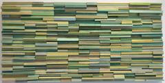 Mindanoa  (Abstract Three Dimensional Wood Wall Sculpture in Green)