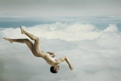 Icarus #1 (Contemporary Nude in Sky Photograph Based of Traditional Greek Myth)