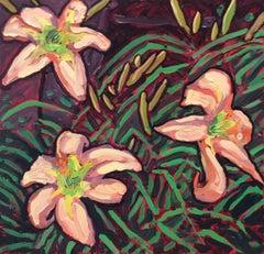 Peach Lilies (Floral Still Life)
