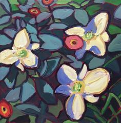 White Day Lilies & Zinnias