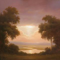 Harmony (Landscape Oil Painting of Hudson Valley in Hudson River School Style)