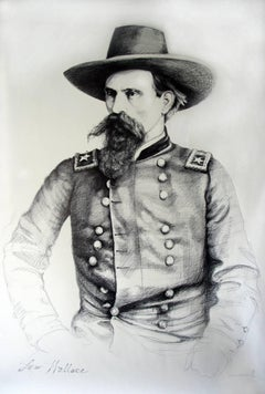 Lew Wallace (Large Black & White Ballpoint Pen Civil War Union General Portrait)