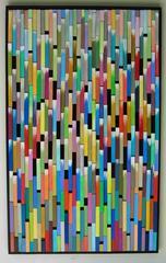 Chromatics Interruptus (Multi-Colored Wooden Wall Sculpture)