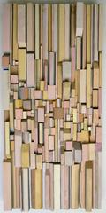 Having a Fit (Earth-toned Abstract 3-D Wooden Wall Sculpture)