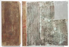 'Untitled' (Gold and Silver Leaf Minimal Diptych)