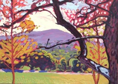 The Great Lawn, Olana (Colorful Fauvist Style Hudson Valley Landscape Painting)