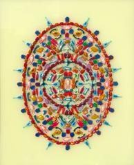 Omega (Multi-colored Modern Mandala with Miniature Play-Doh cut outs)