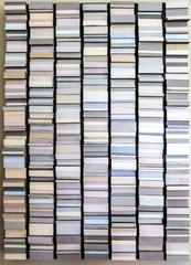 All in a Row (Pastel & Gray 3 Dimensional Wall Sculpture)