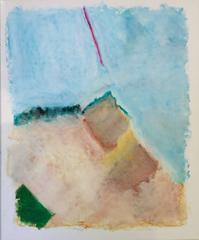 Untitled 054 (Contemporary Abstract Landscape Pastel on Paper)