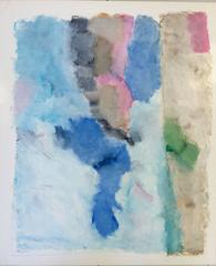 Untitled 048 (Contemporary Abstract Landscape in Pale Pastels on Paper)