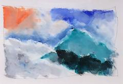 Untitled 106 (Contemporary Abstract Landscape Pastel Drawing on Paper)