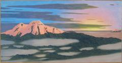 Cayembe (Contemporary Landscape Oil Painting of Volcano in the Ecuadorian Andes)
