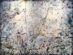 The Sound of Being There (Large Scale Multi Colored Abstract Oil Painting)