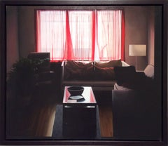 Living Room (Contemporary Photo Realist Oil Painting of Living Room Interior)