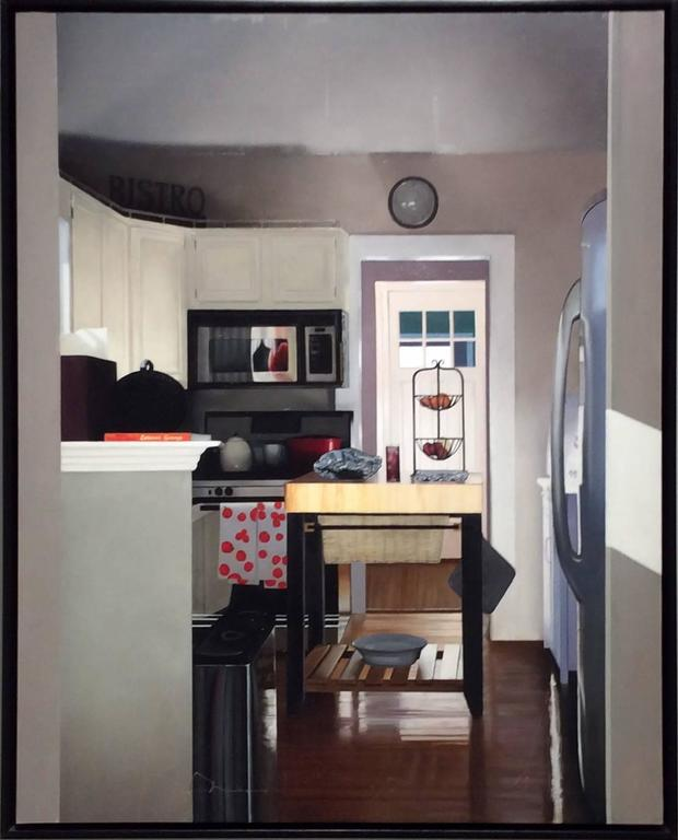Eileen Murphy Interior Painting   Ray U0026 Jenu0027s Kitchen (Photo Realist Oil  Painting Of A