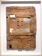 Upstate (Brown) :Contemporary Mixed Media Cardboard Construction with String