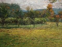 #5418 Washington County Vineyard (Impressionistic Green Country Landscape)