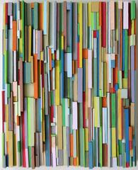 Tutti-Frutti (Colorful Abstract Three Dimensional Wood Wall Sculpture)