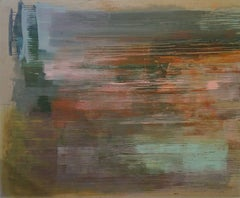 Sayan Terrace (Contemporary Abstract Painting on Raw Linen)