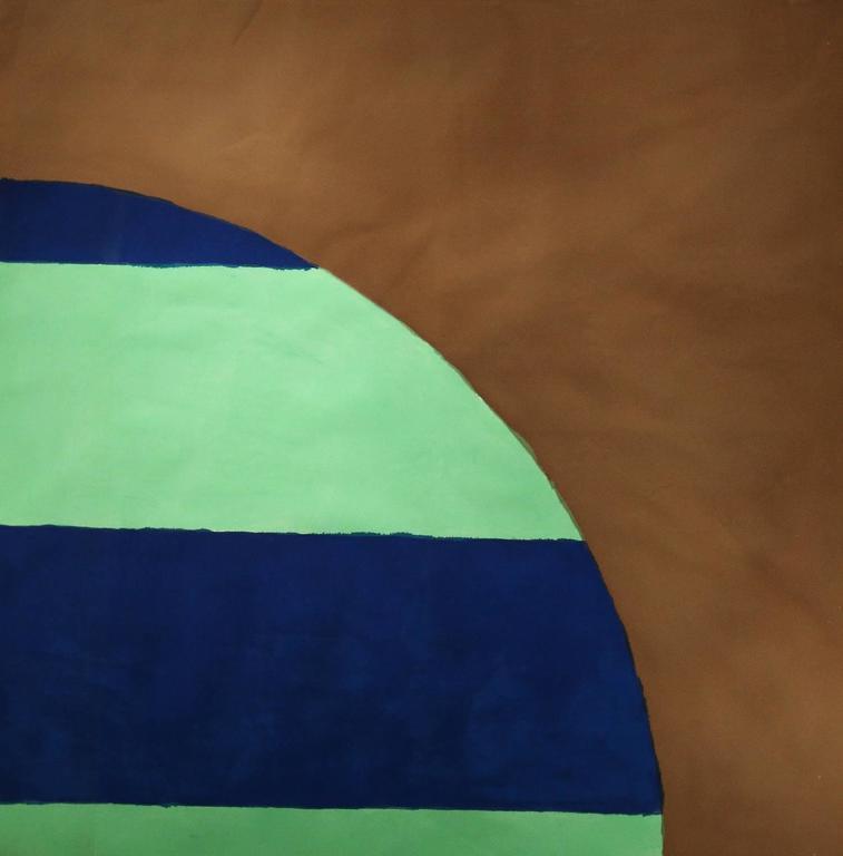 Untitled 027 (Mid-Century Modern Minimalist Color Field in Blue, Aqua, Brown)