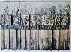 Quatrieze (Contemporary Landscape Photo Collage 3D Wooden Wall Sculpture)