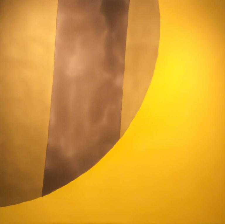 Untitled 047 (Mid-Century Modern Color-Field Canvas, Sunflower Yellow and Ochre)