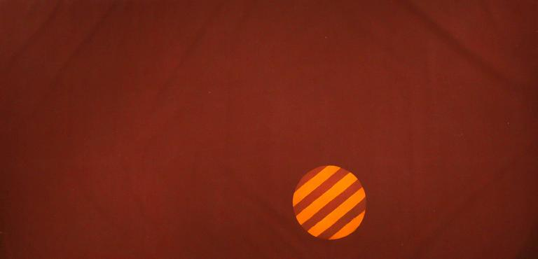 Untitled 074 (Mid-Century Modern Grand Scale Color Field Canvas with Orb)