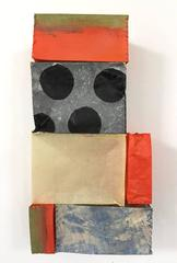 Paper Quilt #8 (Playful Contemporary Abstract Paper Wall Sculpture with Dots)