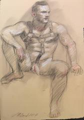 MB 004 (Graphite Drawing of Male Nude)