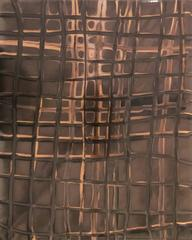 Grid No. 202 (Modern, Abstract Gestural Photo in Light Coral, Brown, & Mocha)