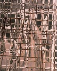 Grid No. 201 (Modern, Abstract Gestural Photo in Pale Sienna, Brown & Champagne)
