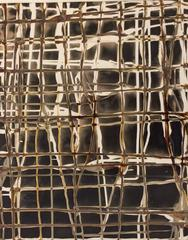 Grid No. 207 (Modern, Abstract Camera-Less Photo in Toffee, Black, & Beige)