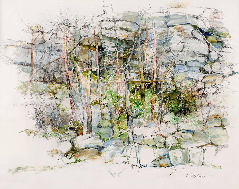 Linda Cross - Thicket (Modern, Impressionistic Rock Landscape ...
