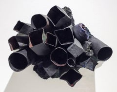 Little Remains (Contemporary, Black Abstract Three-Dimensional Wall Sculpture)