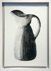 Morandi Series II - Pitcher (Modern, Black and White Still Life Print, Framed)