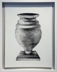 Morandi Series II - Urn (Modern, Black and White Still Life Print, Framed)